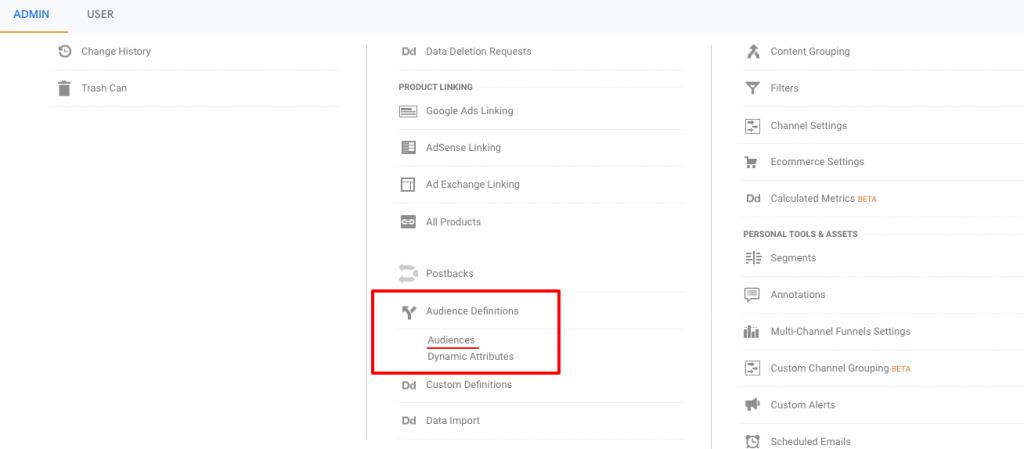 Audiens Google Analytics