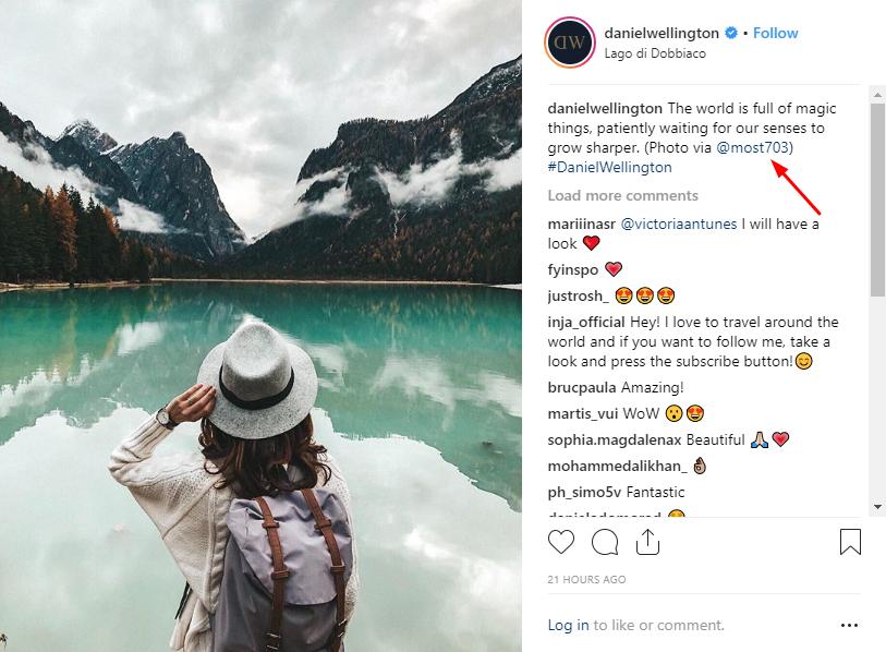 messages personnalisés Instagram