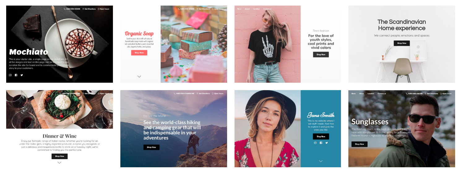 Instant Site themes