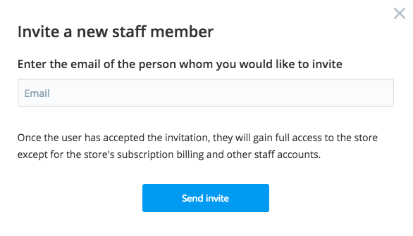 Invite a new staff member