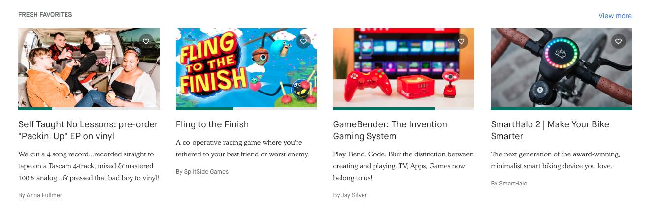 Geschäftsideen auf Kickstarter