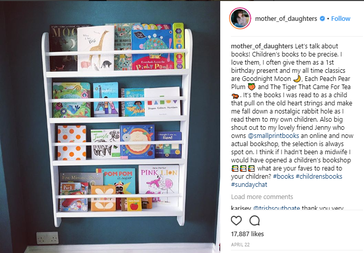 A guest Instagram post for a bookshop
