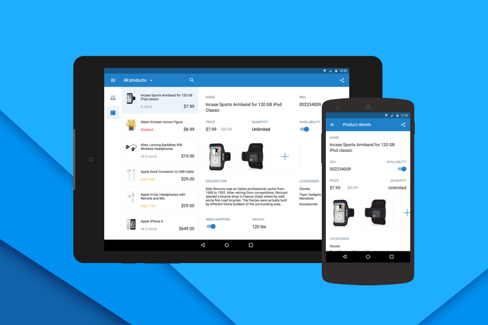 Manage your inventory on the go