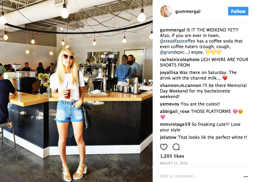 Example of an Instagram partnership with a micro-influencer