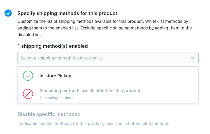 per-product shipping methods