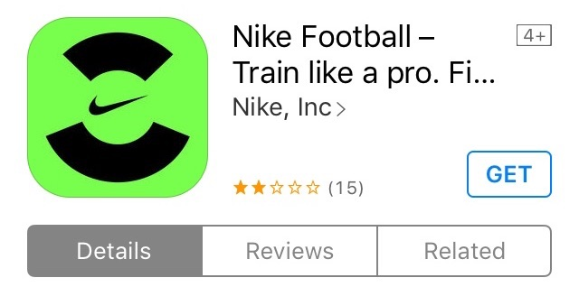 application mobile Nike