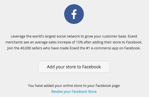 How to set up a store on Facebook with Ecwid