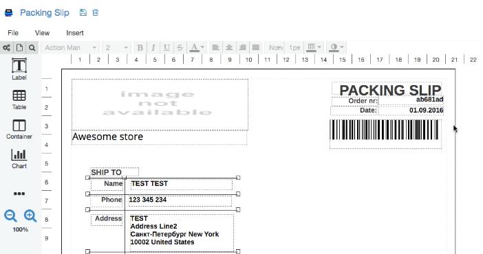 Diseñador de impresión