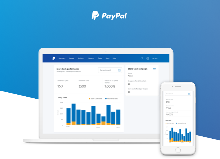 Paypal store cash