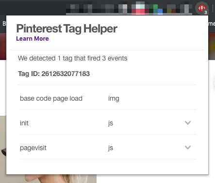 Pinterest Tag helper