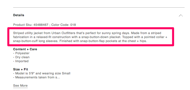 Product description copy