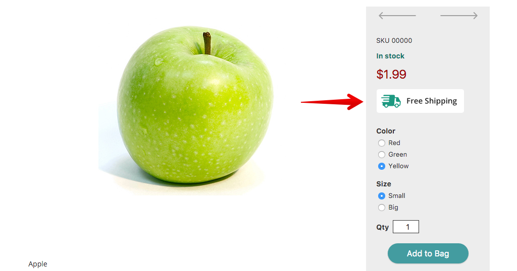 How to add free shipping icon