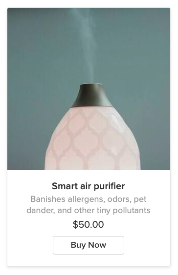 Purifier product subtitles Ecwid