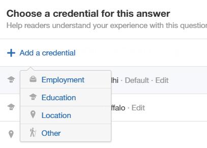 Quora credenciales