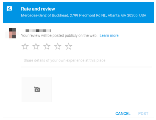 Use this URL to collect reviews