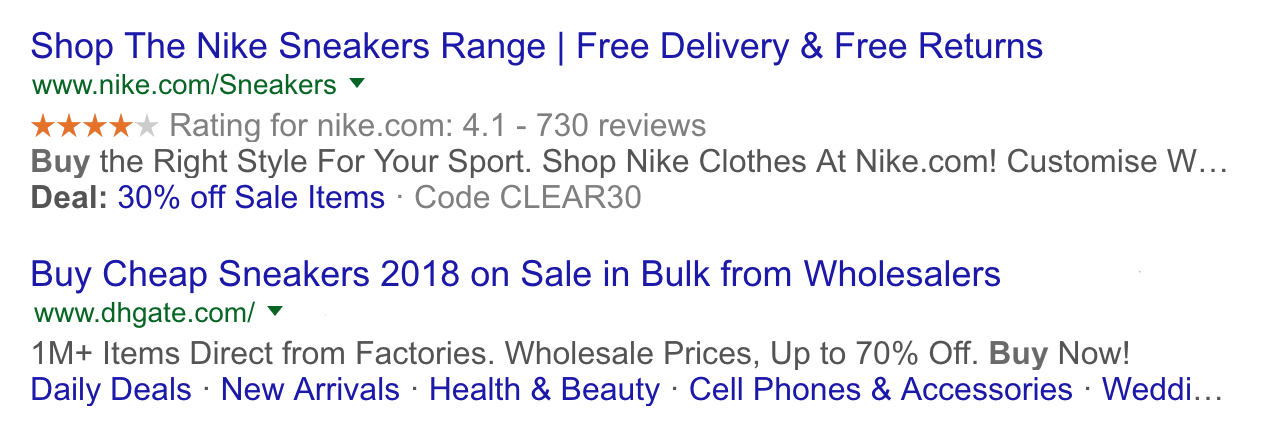 Rich social snippets