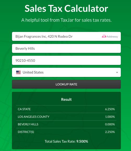 La Taxe De Vente Calculatrice