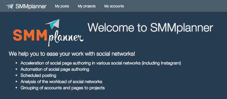 Smm planner for Instagram
