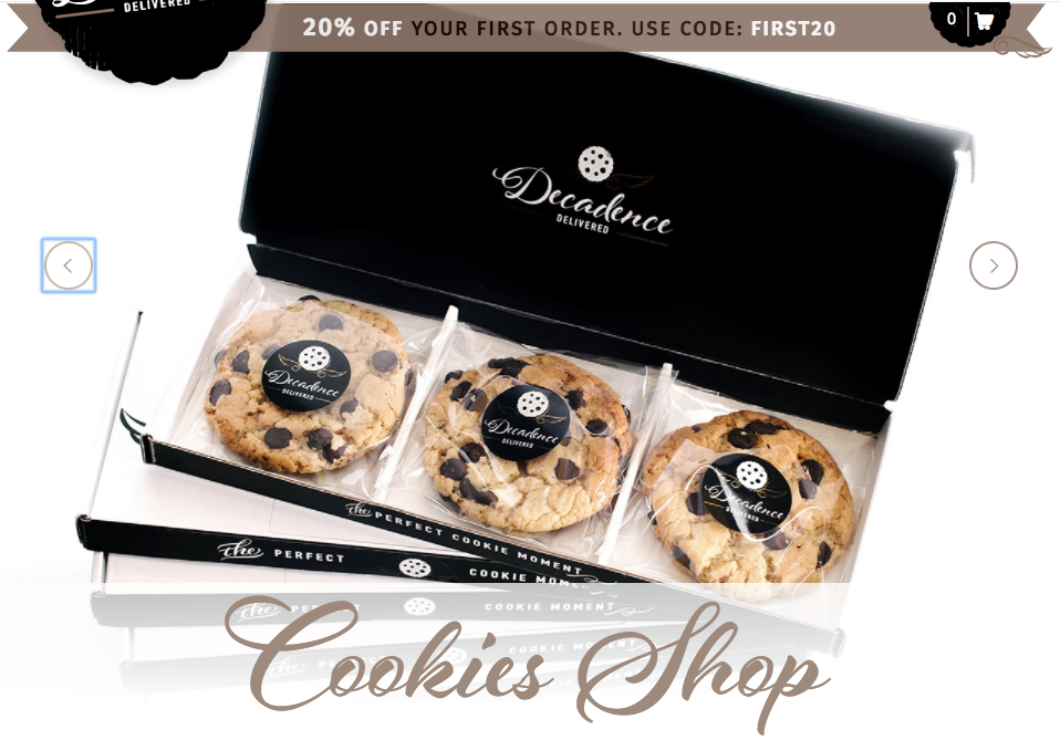 Decadence Delivered homemade cookie shop