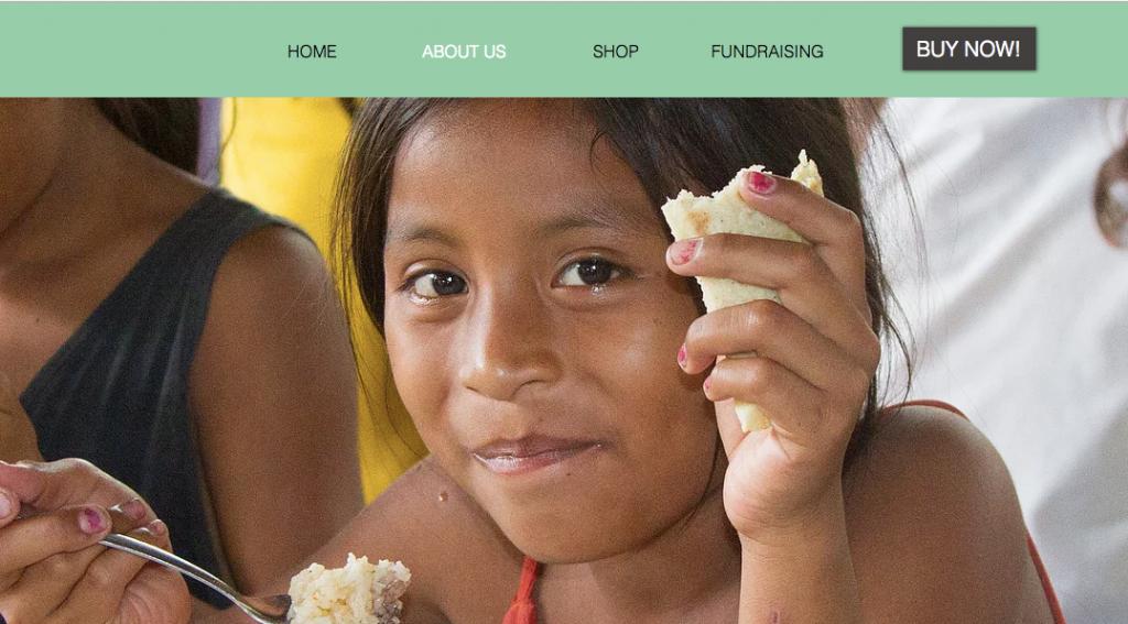 """Mangotreecoffee.org & quot; Chi siamo"""" pagina su menu in alto sul sito"""