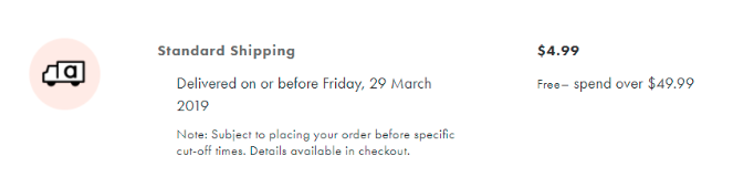 Asos offers free shipping if the order is over $49.99