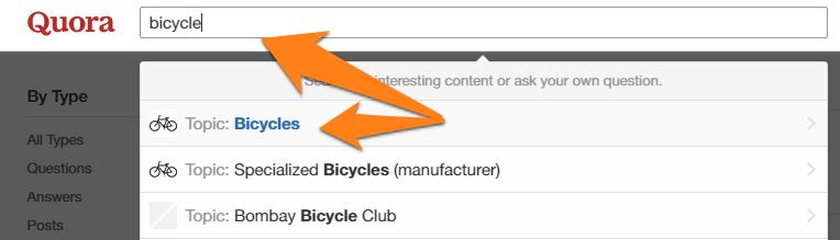 Buscar temas en Quora