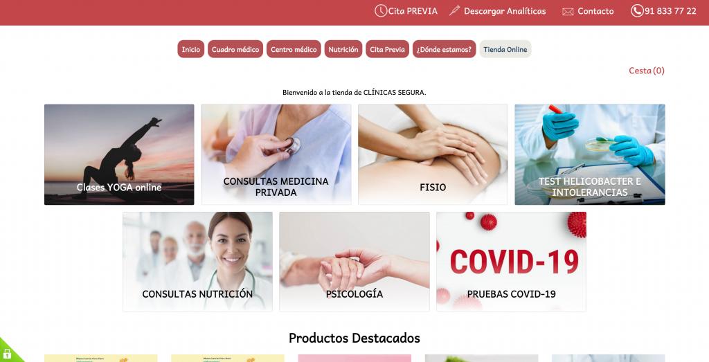 Segura Medical Center Ecwid Store