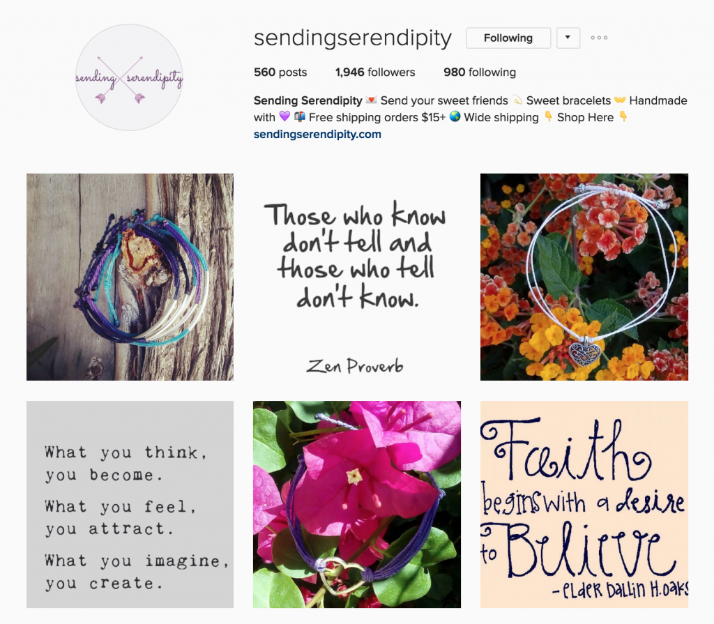 Senden Serendipity Instagram