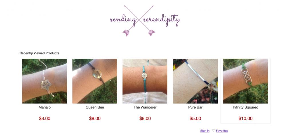 Envoi Serendipity boutique en ligne
