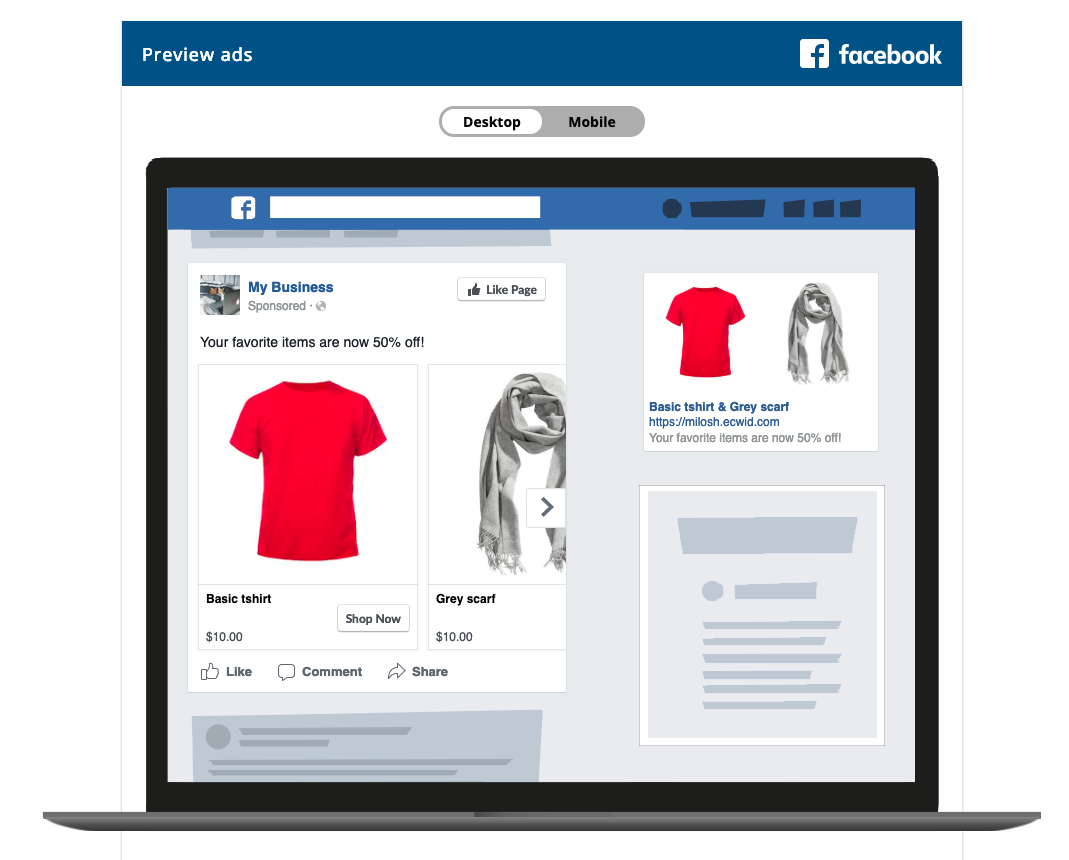 Set up facebook retargeting