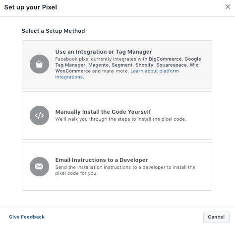 Setting up Facebook pixel for Ecwid