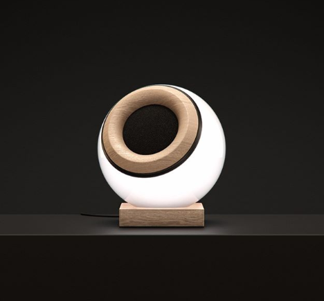 A smart lamp and speaker from @oupio.official