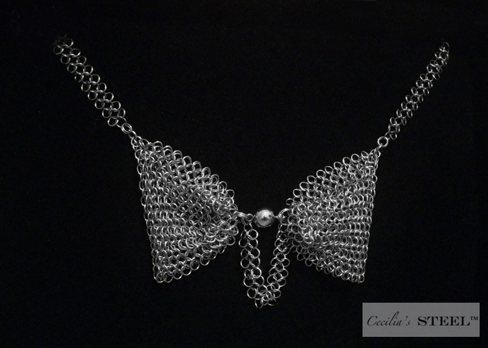 Steel Pearl™ Bow Tie Necklace