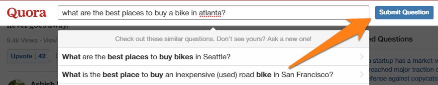 Invio domande su Quora