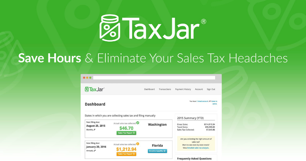 TaxJar app for Ecwid