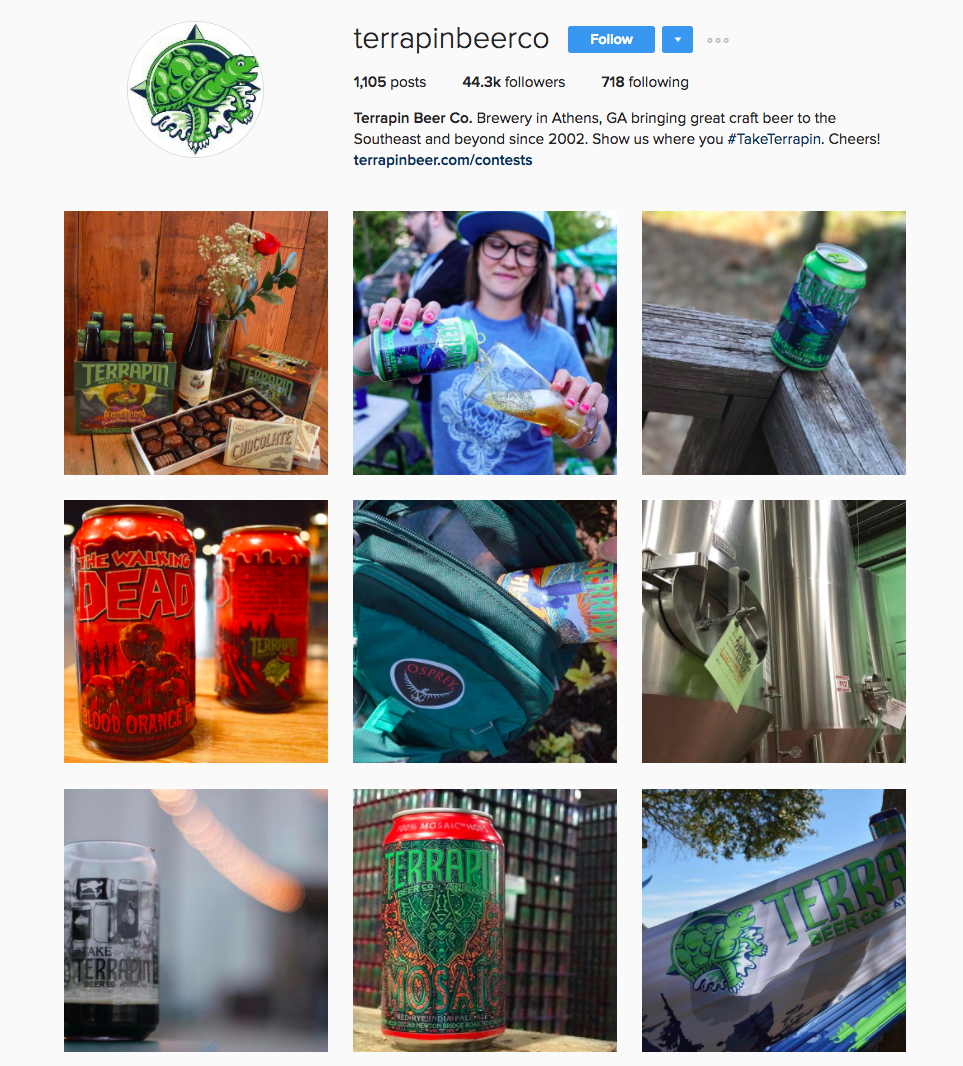 Terrapin Beer Instagram profile