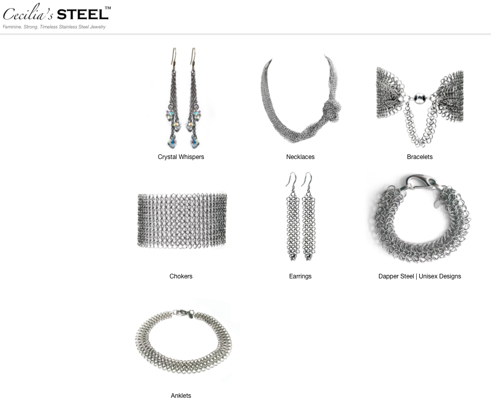 The Cecilia's Steel Jewelry