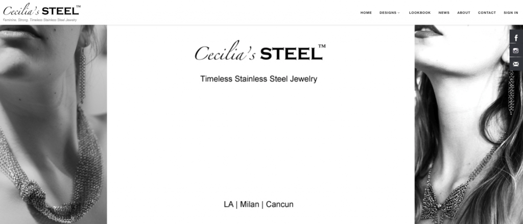 The Cecilia's Steel website