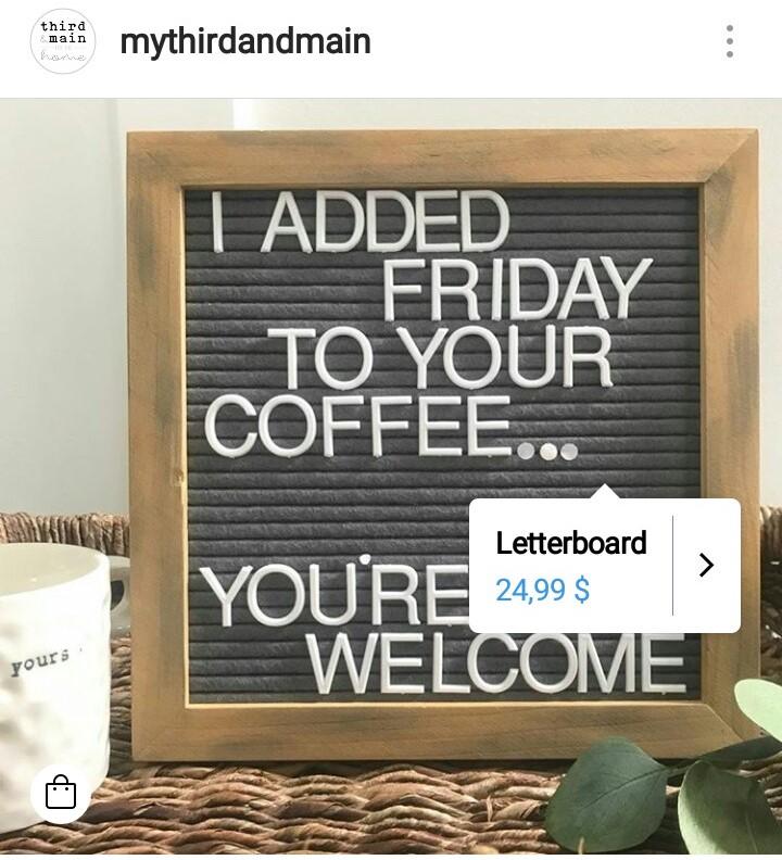 Troisième & principal Instagram