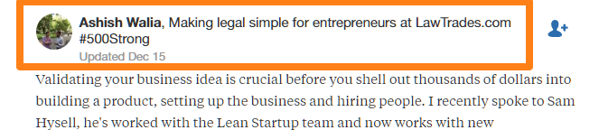 Using credentials to promote your business on Quora