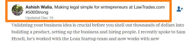 El uso de credenciales para promover su negocio en Quora