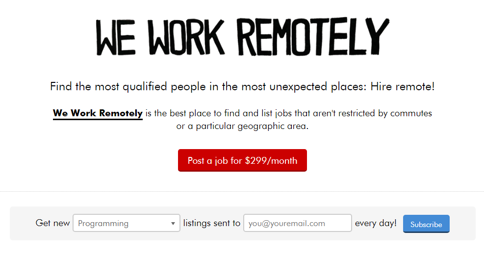 WeWorkRemotely