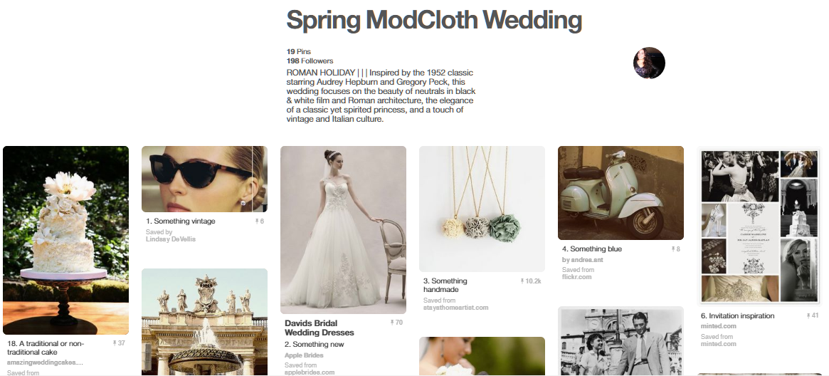 Spring ModCloth Wedding