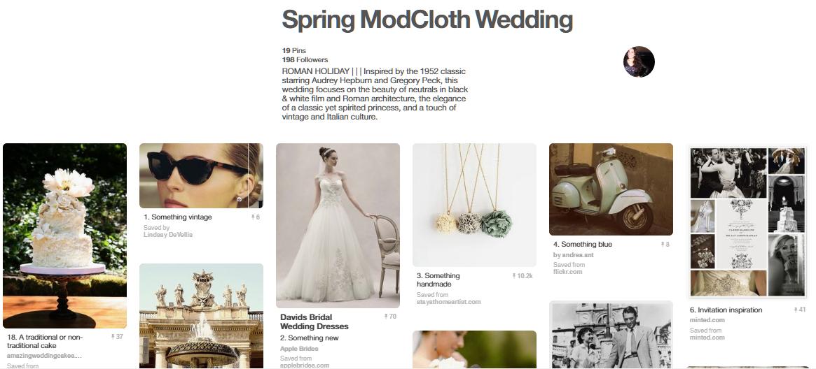 Musim Semi ModCloth Pernikahan
