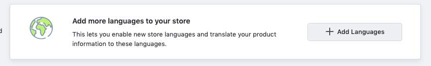 add more languages to online store