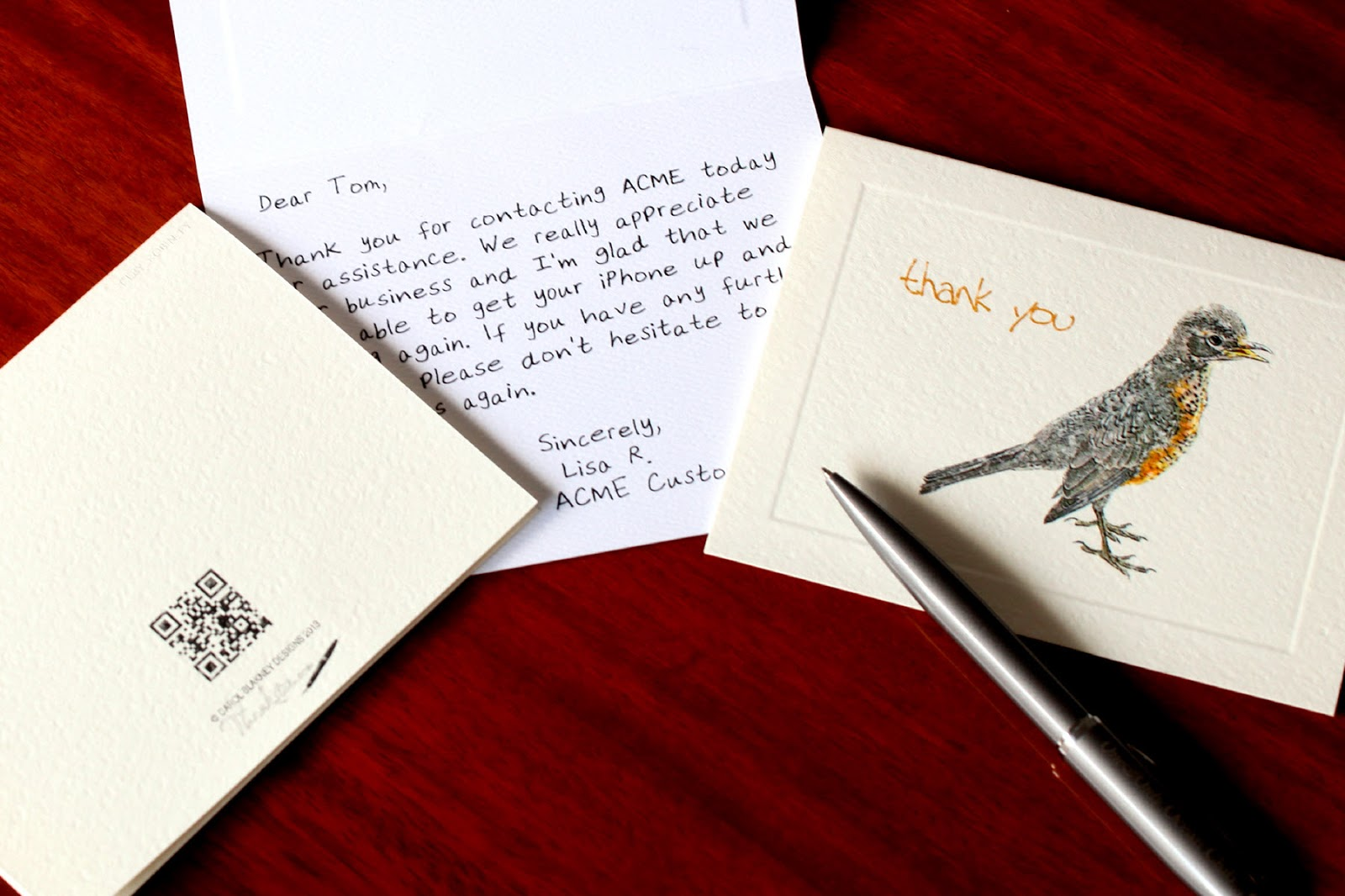 Handwritten cards