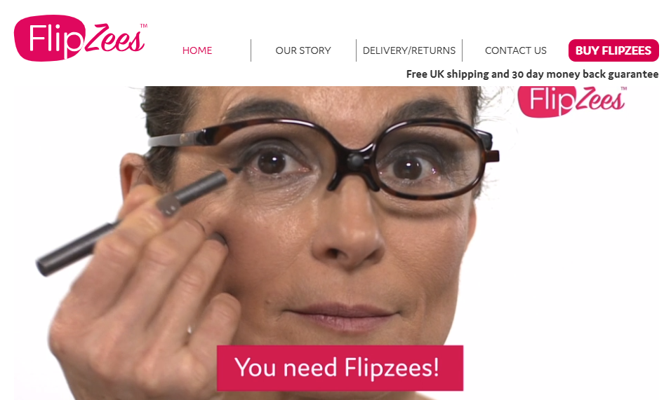 FlipZees display a video on the home page