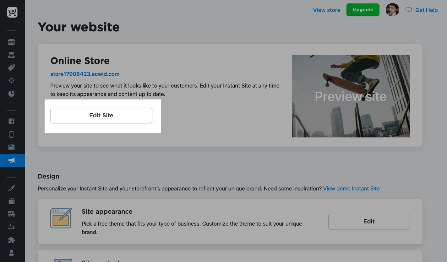 e-commerce website maken