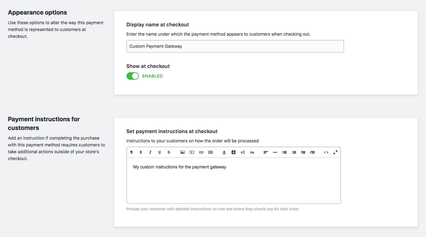 Edit custom gateway example