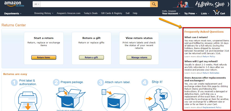 Amazon FAQs